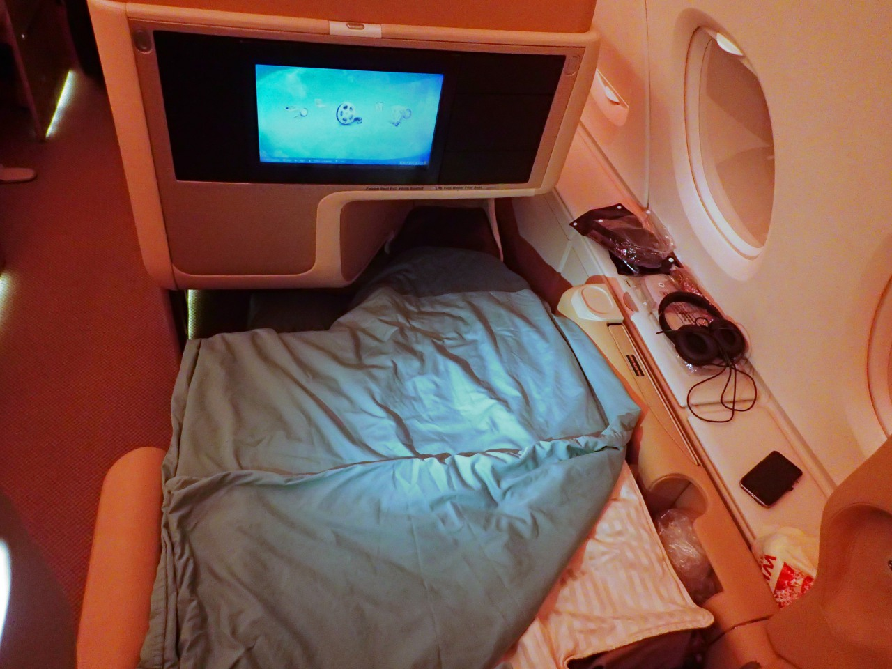 Singapore A380 Business Class Bed Review