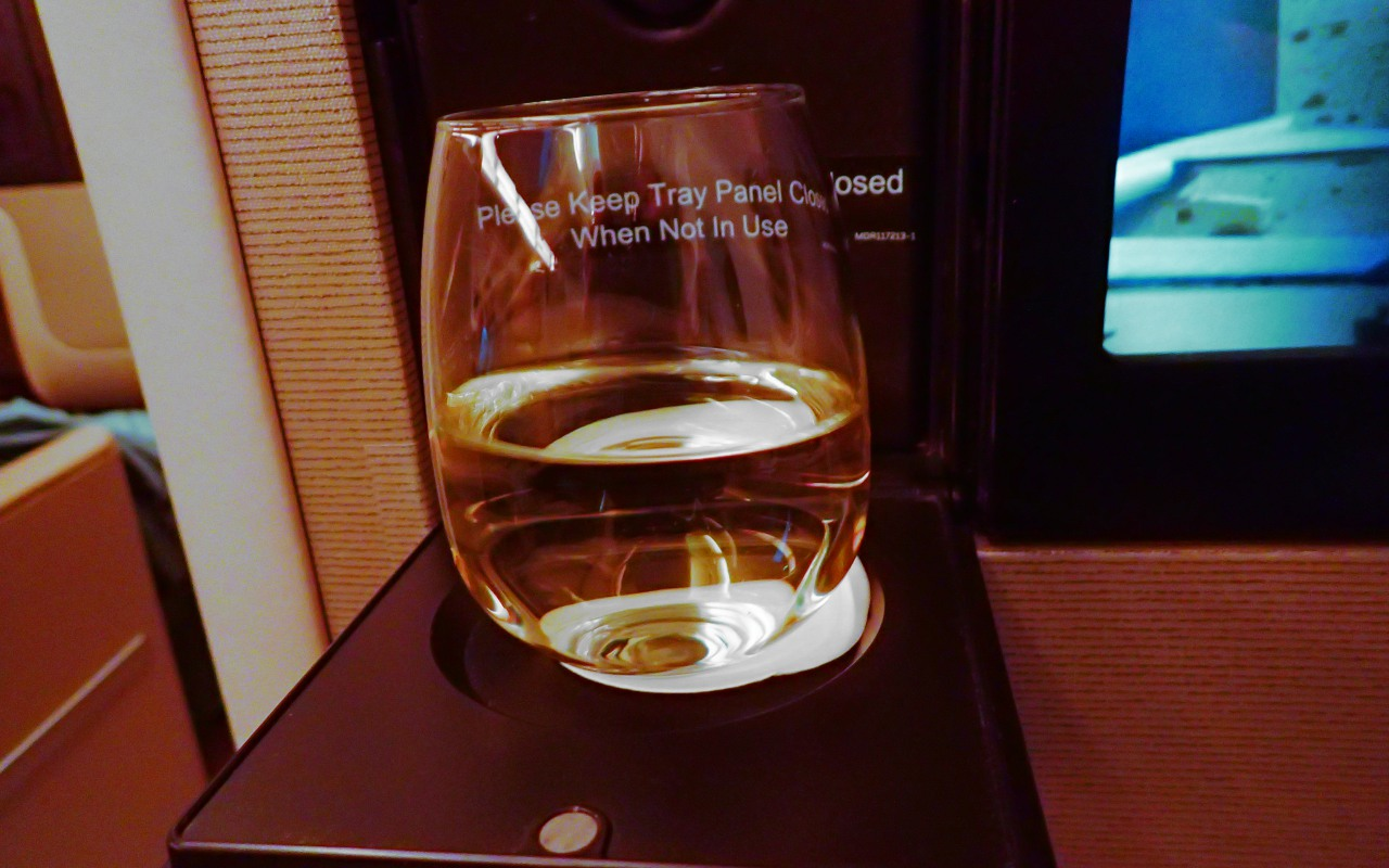 Chardonnay, Singapore A380 Business Class Review, JFK-FRA