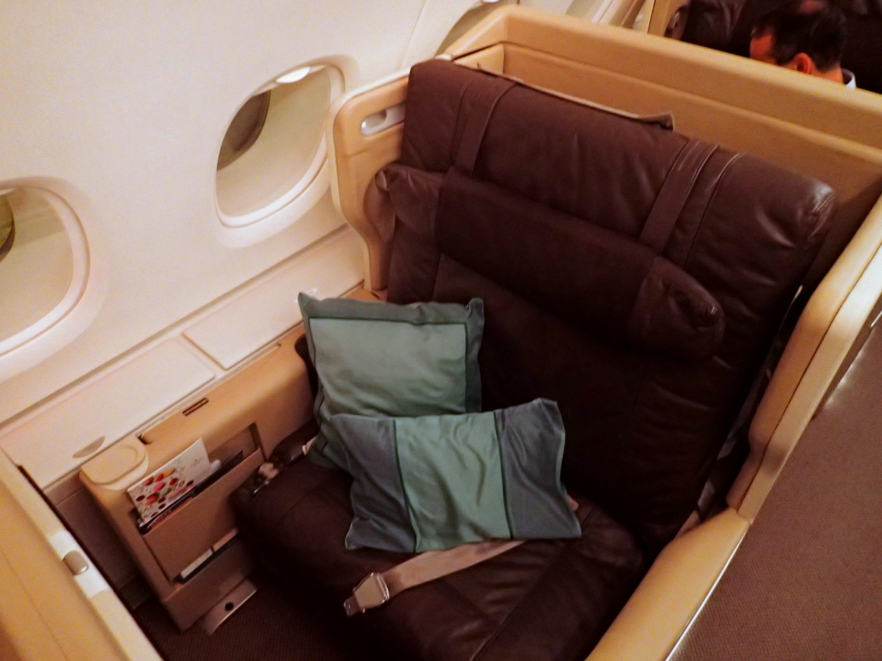 Singapore Airline Business Class Seat, A380