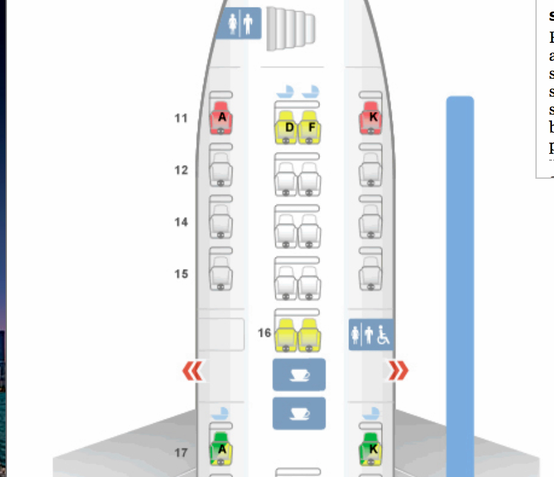 Singapore Airlines A380 Business Class Seat Map