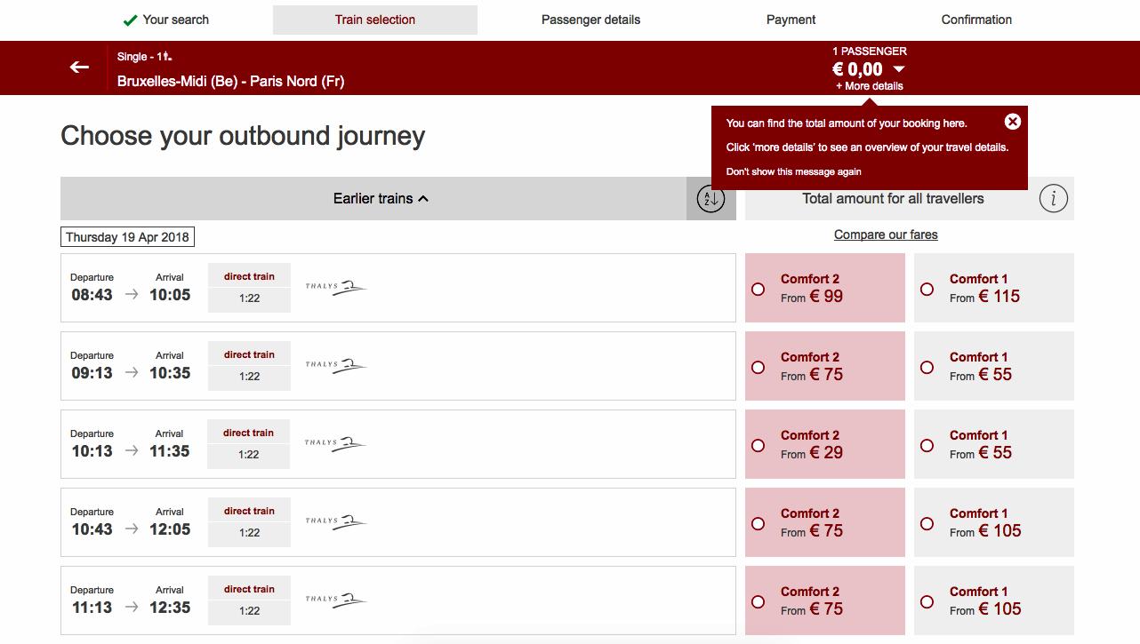 Book Thalys Train Tickets
