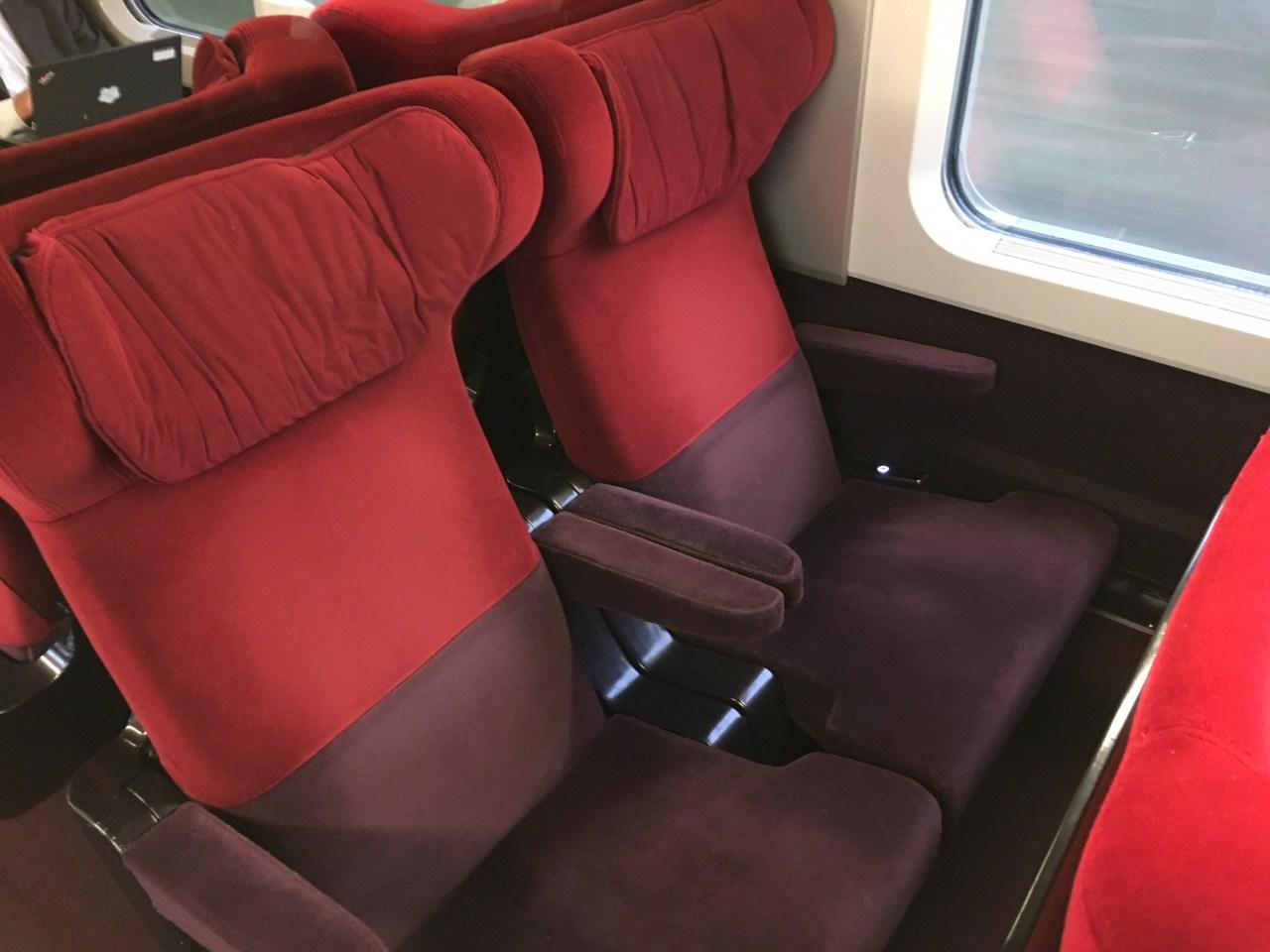 Thalys First Class Comfort 1 Seats