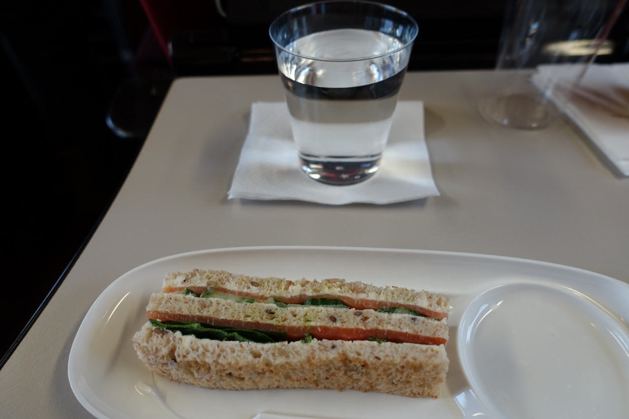 Smoked Salmon Sandwich, Thalys Comfort 1 Review
