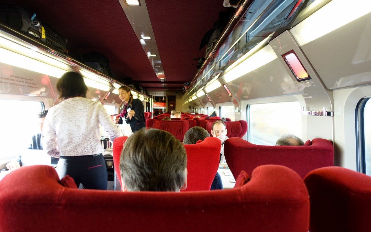 Thalys First Class Comfort 1: 1-2 Configuration