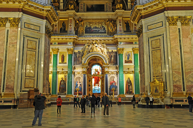 Inside St. Issac's Cathedral, St. Petersburg