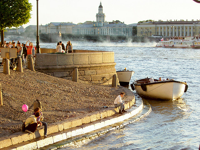 Along the Neva River, St. Petersburg