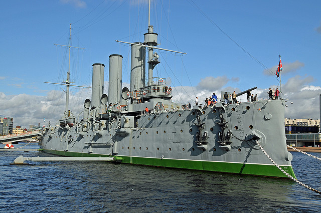The cruiser Aurora, St. Petersburg