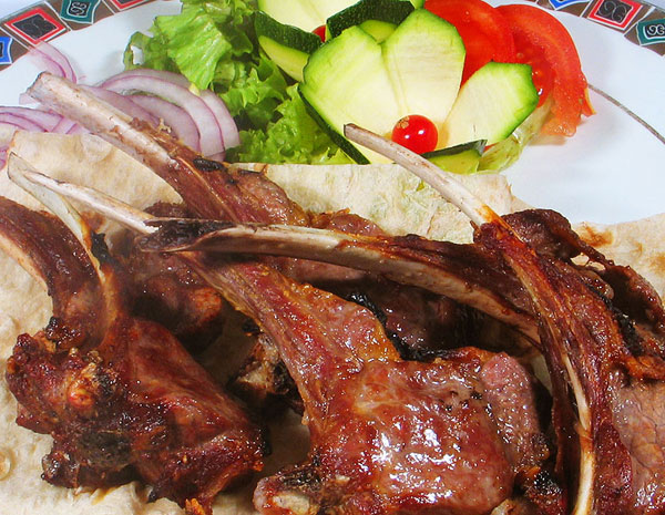Lamb at Erivan Armenian Restaurant-St. Petersburg, Russia