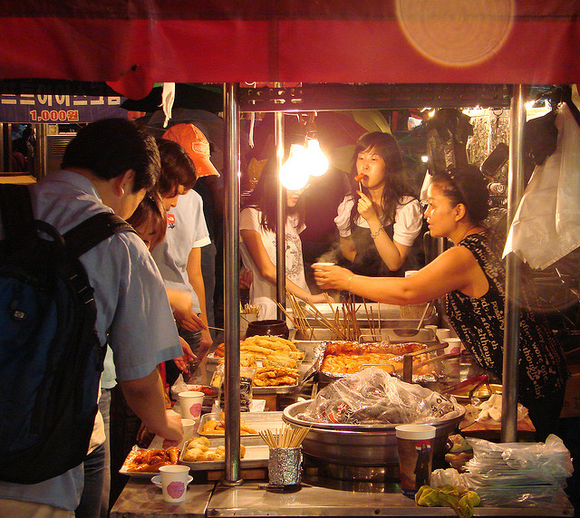 A typical Seoul food stall