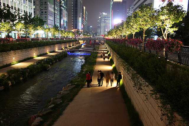 Strolling along the river, Seoul