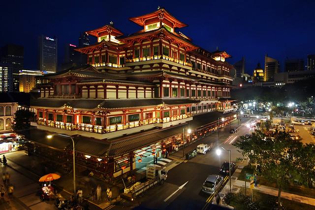 The historic Grand Buddha Temple, Singapore