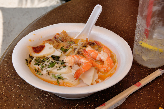 The famous laska from Roxy Laska & Prawns Noodle Stall, Singapore