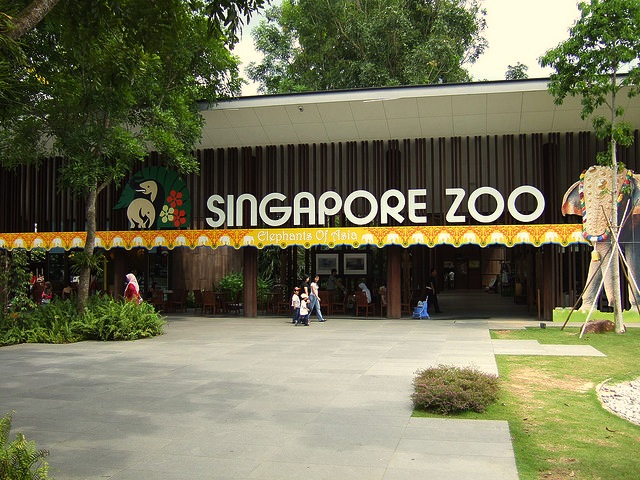 The entrance to the Singapore Zoo