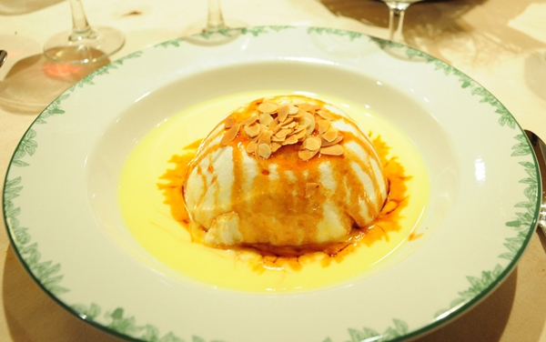 Floating Island Dessert at Chez Clement, Paris with Kids