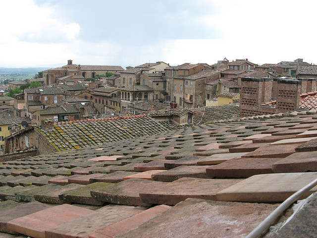 A look over Siena's ancient rooftops