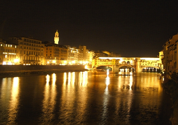 Florence, Italy by night