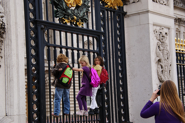 Fun at Buckingham Palace, London