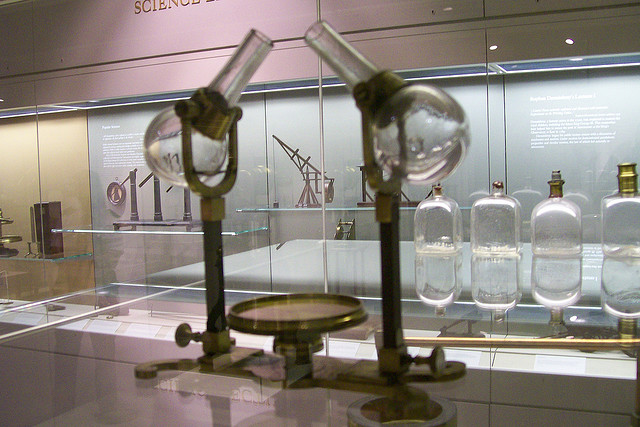 Test tubes at the London Science Museum