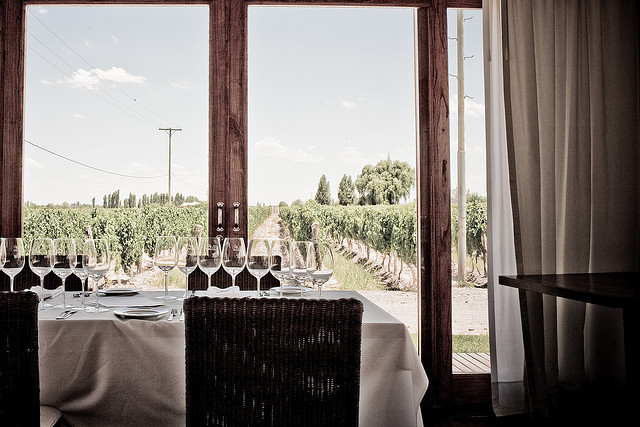 A heavenly view at a Mendoza wine tasting