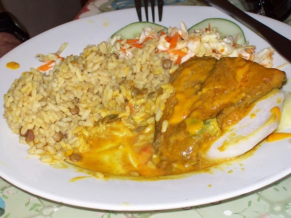 Curried chicken, St. Lucia