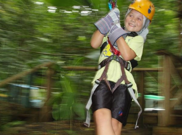 Zipline, Treetop Adventure Park, St. Lucia