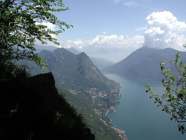 Great views of Lugano from hiking nearby
