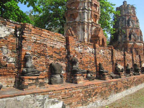 Headless Buddhas at Wat Phra Mahathat, Ayutthaya Thailand