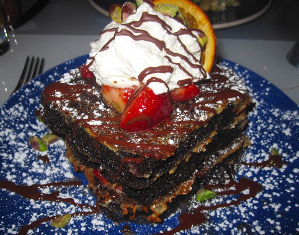 Chocolate decadence french toast, Norma's at The Parker Meridien Hotel NYC