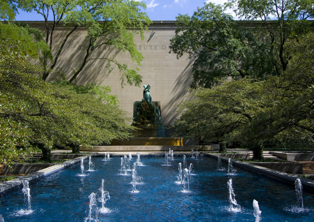 Fountains at the Art Institute of Chicago