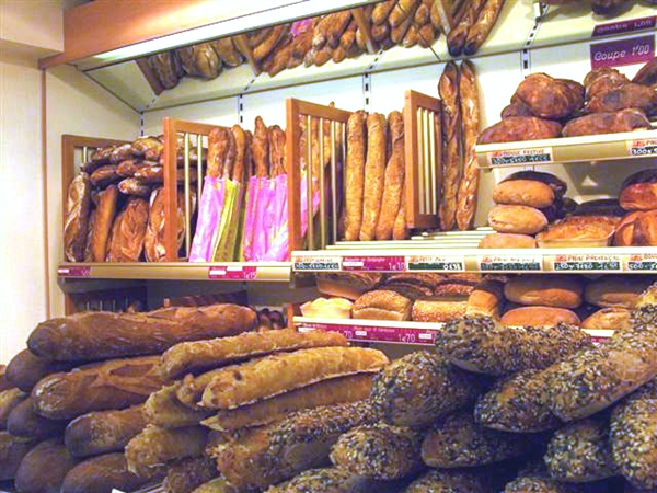 Fresh bread in Paris, France