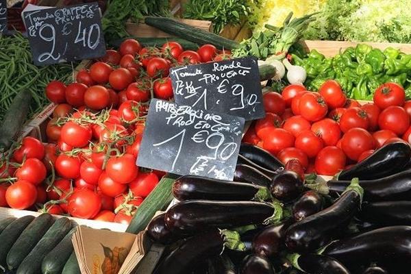 Vegetables at Marche d'Aligre, Paris France