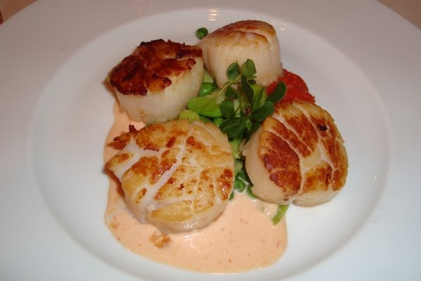 Seared Scallops, Carlyle Restaurant NYC