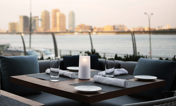 Outdoor Terrace, Riverpark, NYC