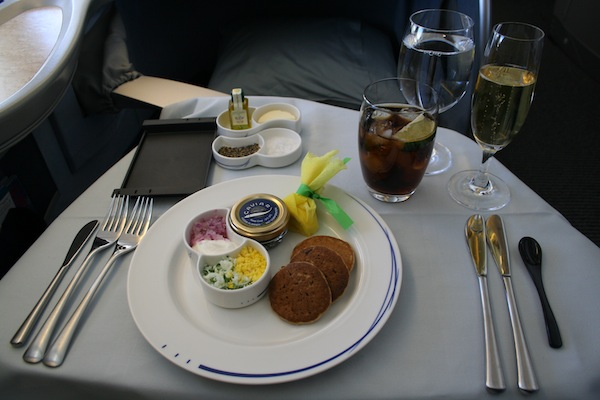 Caviar in ANA first class