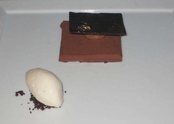 Chocolate Mousse with Nougat Ice Cream-Cafe Boulud-NYC