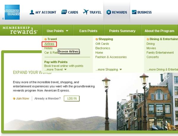 AMEX Membership Rewards site