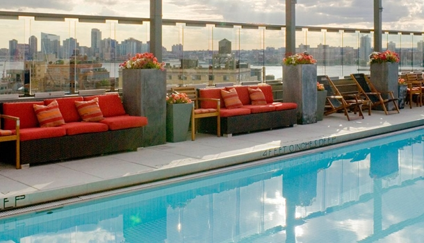 The best new york hotels with pools - Hotel new york swimming pool roof ...