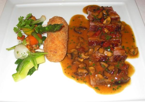 Basque Pork, Croquette, Shiitake Mushrooms, Le Cinq, Four Seasons Paris