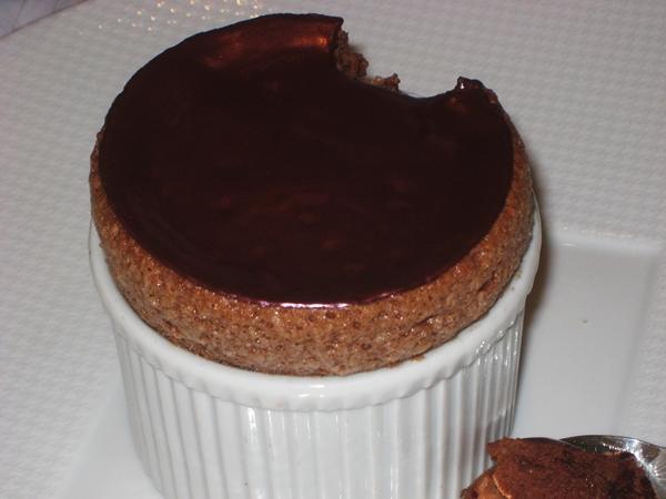 Chocolate Souffle, Le Cinq, Four Seasons Paris