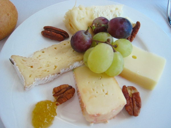 Cheese plate, Lufthansa First Class