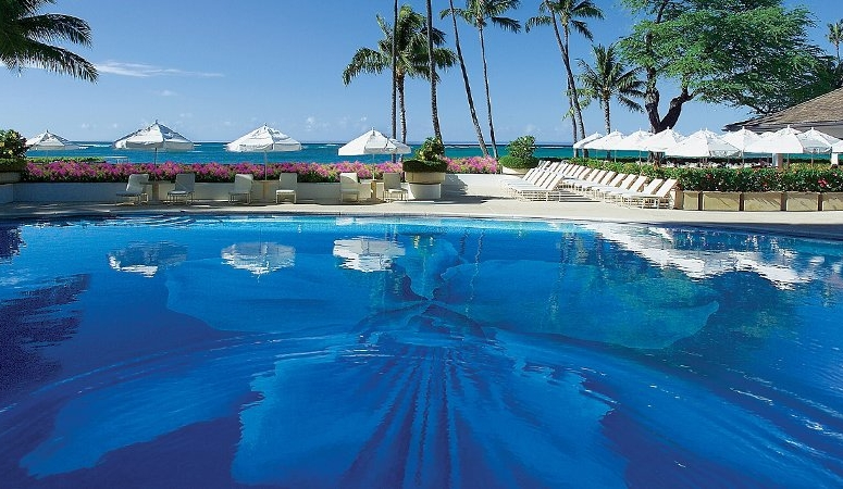 Orchid Pool at the Halekulani Hotel, Honolulu