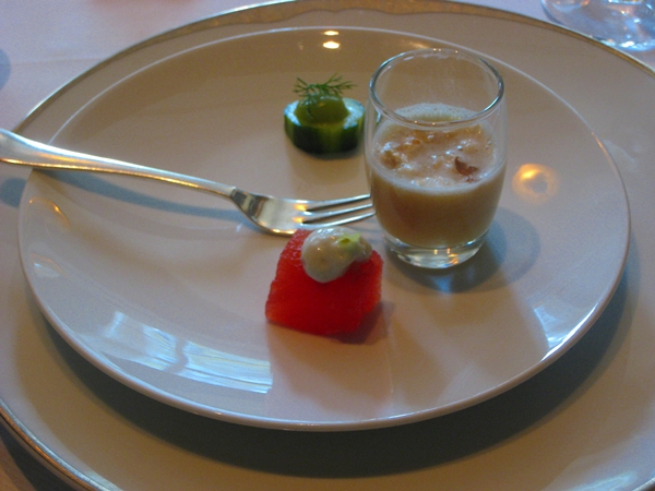 Free lunch at jean georges from british airways visa for Amuse bouche cuisine