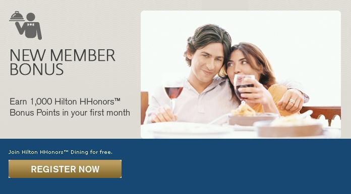 Frequent Flyer Dining Programs and Bonuses-1000 Hilton HHonors Bonus