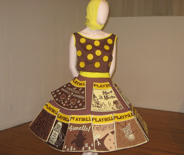 Review-New York Chocolate Show-Chocolate Broadway Playbill Dress