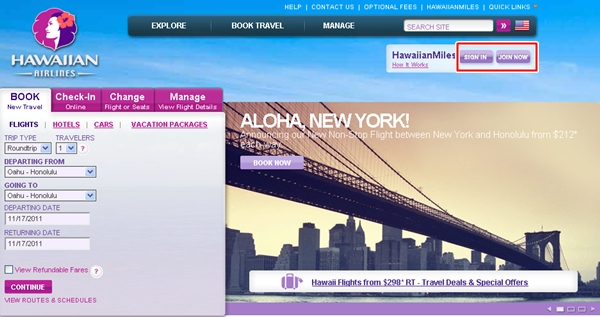 How to Fly Hawaiian Airlines from NYC to Hawaii with American AAdvantage Miles