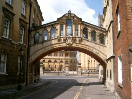 Bridge of Sighs by Hertford College, near the Turf Tavern