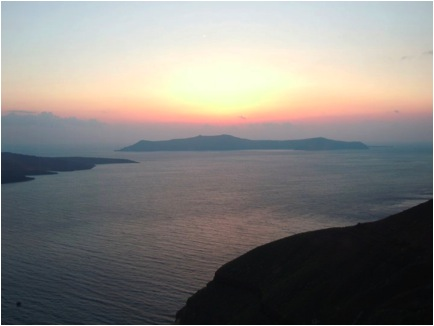 Chasing Sunsets in Santorini, Greece