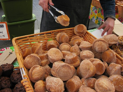 Donut Muffins from the Farmers' Market