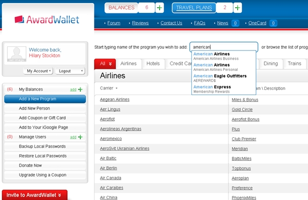 AwardWallet Review: Track Miles and Points