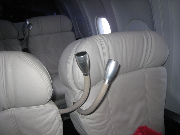 Form Over Function: Virgin America First Class White Leather Seats